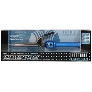 Hot Tools Titanium BLUEICE Spiral Curling Iron